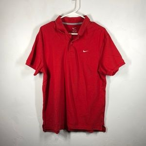 Nike red polo size large